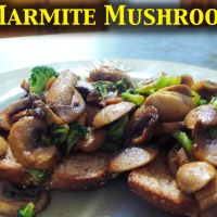 Marmite Mushrooms (a modern recipe)