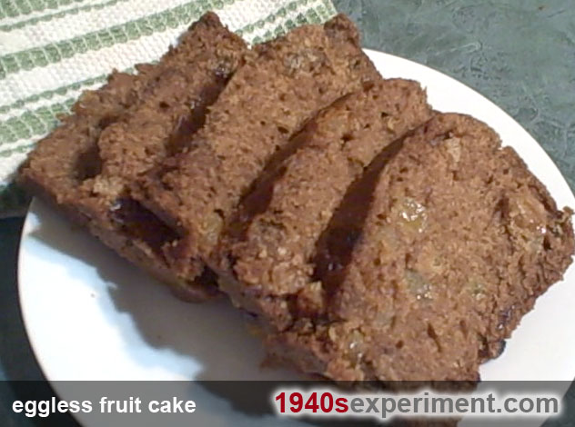 Eggless Fruit Cake The 1940 S Experiment