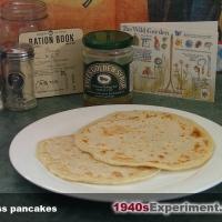 Pancake Day - Wartime eggless pancakes