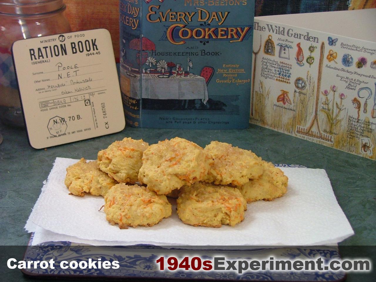 World War  Food Recipes Carrot Cookies