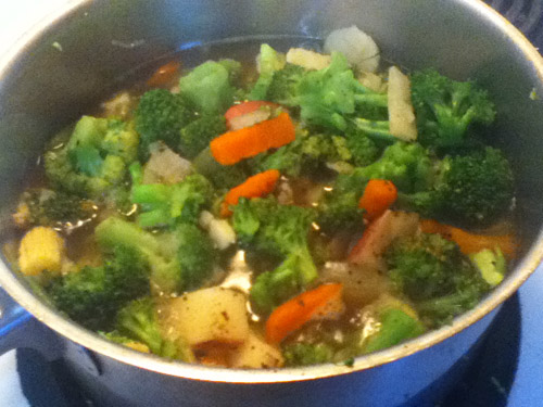 How to make vegetable soup tasty