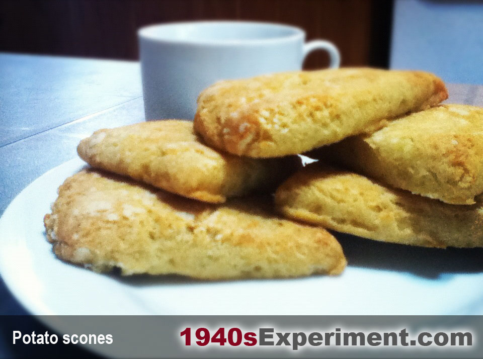 Potato scones – No 76 – The 1940's Experiment