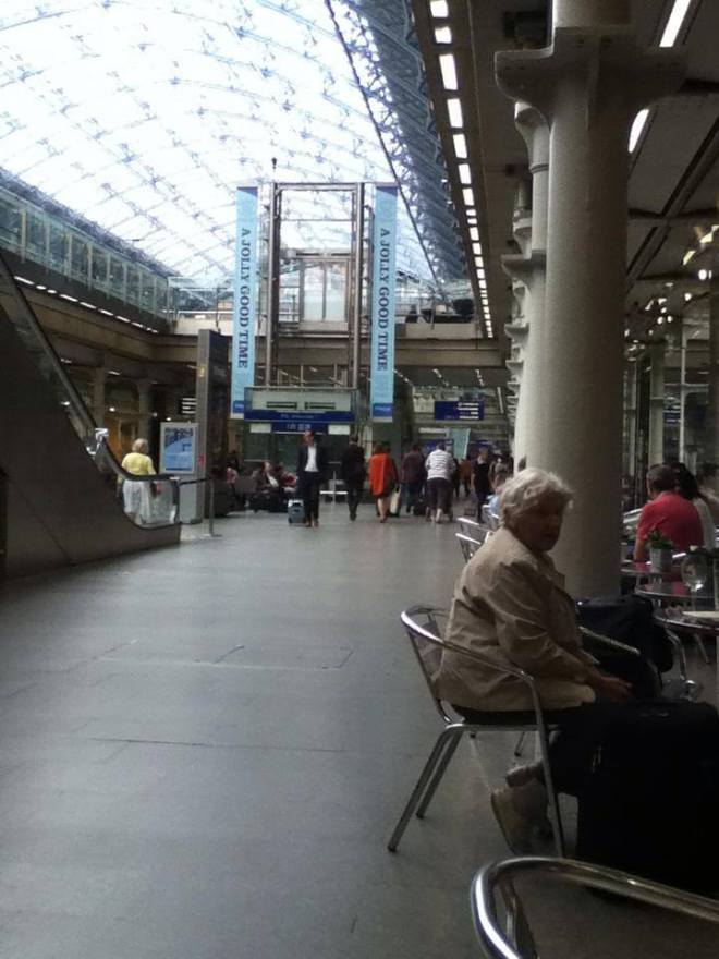 St Pancras train station in London