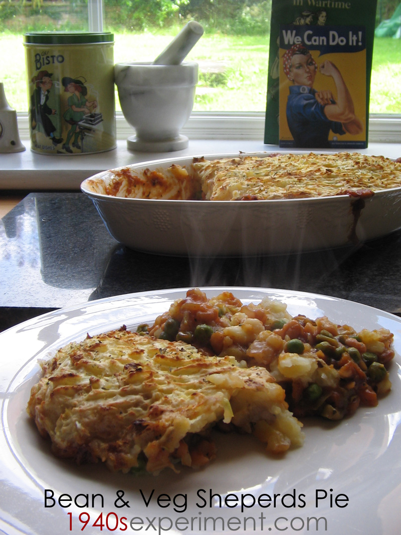 bean and vegetable sheperds pie – The 1940's Experiment