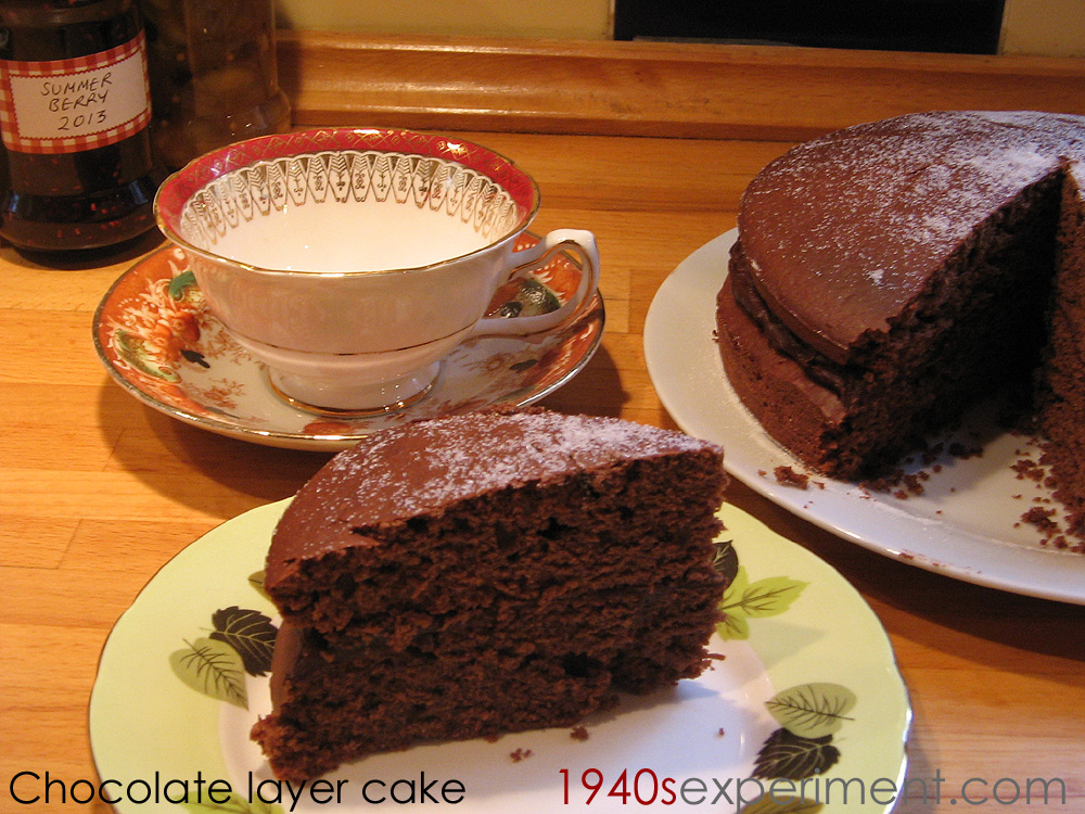 Wartime Chocolate Cake