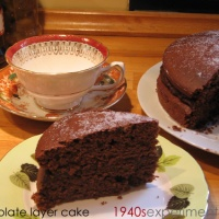 Chocolate Layer Cake - Recipe No 128