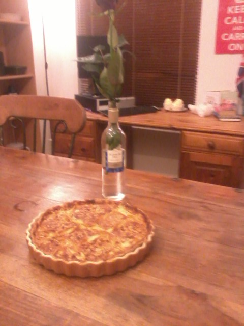 My boyfriend made me the biggest and best Bakewell tart on the planet :)