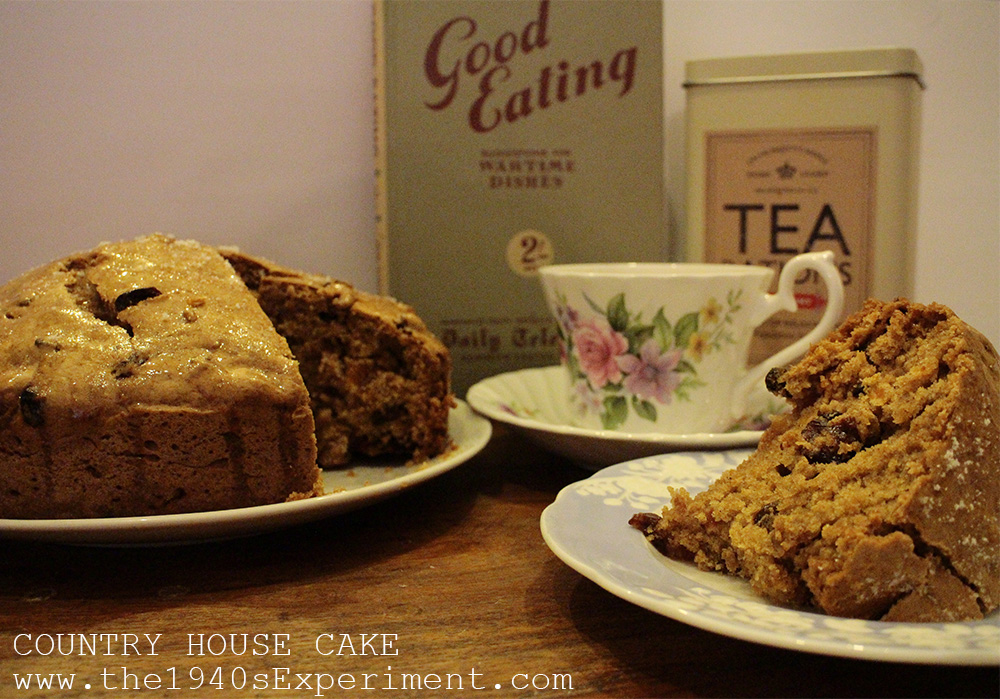 Country House Cake – Recipe No. 147 – The 1940's Experiment