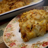 Cheese, Potato & Onion Pie - Recipe No. 169