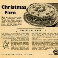 WW2 Christmas Recipe Pamphlets - Ministry of Food